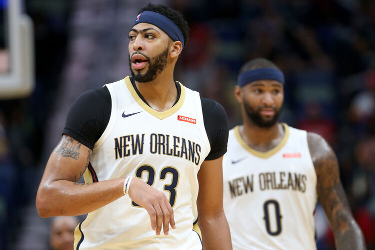 New Orleans Pelicans Anthony Davis DeMarcus Cousins Getty Images