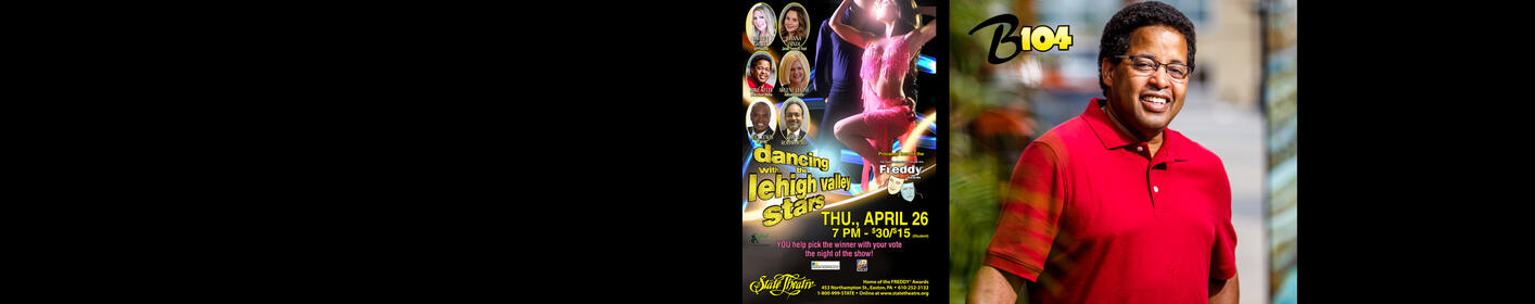STARS ANNOUNCED! B104's Mike Kelly will be dancing to win the 2018 Lehigh Valley Dancing with the Stars!