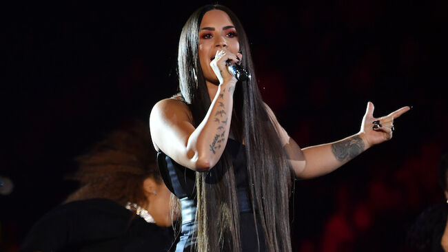 Demi Lovato Brings 'Sorry Not Sorry' to the 2017 MTV EMAs   American