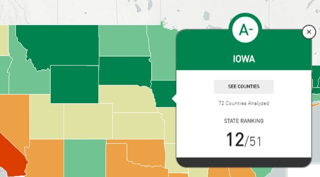 Most dangerous driving near s in Iowa - MAP | 1040 WHO on