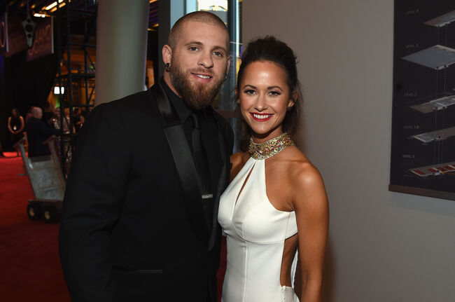 Brantley Gilbert and Amber Cochran The 50th Annual CMA Awards - Arrivals