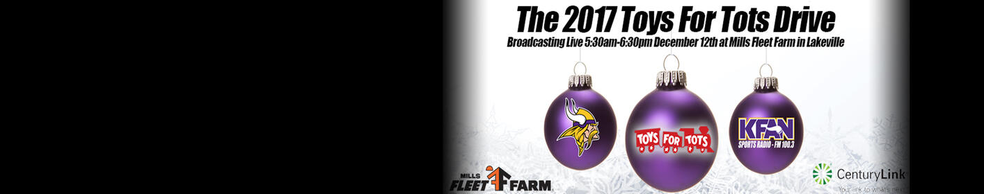 Join KFAN and the Minnesota Vikings to collect toys for Toys for Tots