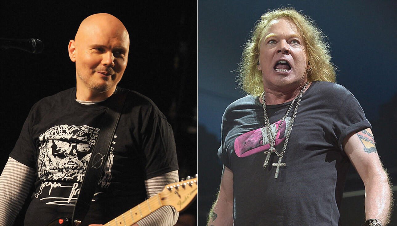 5db837c9b Billy Corgan Says He Admires Axl Rose For Being 'Truly Free'   iHeartRadio