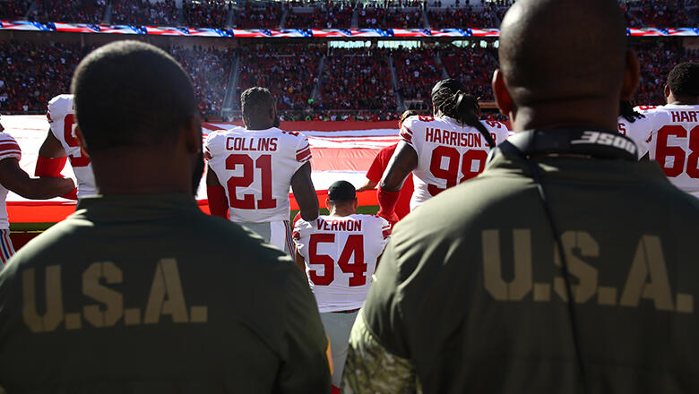 brand new ad4b1 975a1 These Three NFL Players Knelt During The Anthem On Veterans ...