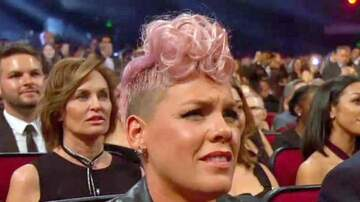 None - Pink Denies Cringing at Christina Aguilera's AMAs Performance