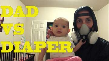 DJ AGRO - Dad has a hard time changing diaper. The gagging LOL!