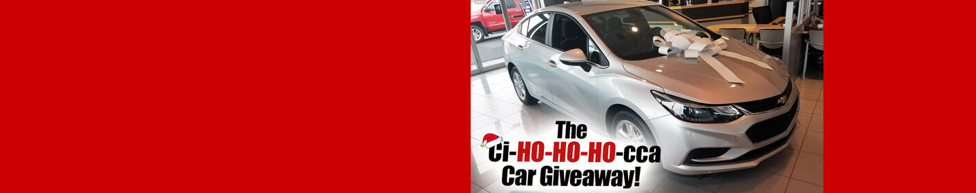 'Ci-Ho-Ho-Ho-cca' Days Giveaway! Drive away a 2018 Chevy Cruze LS from Ciocca Chevrolet