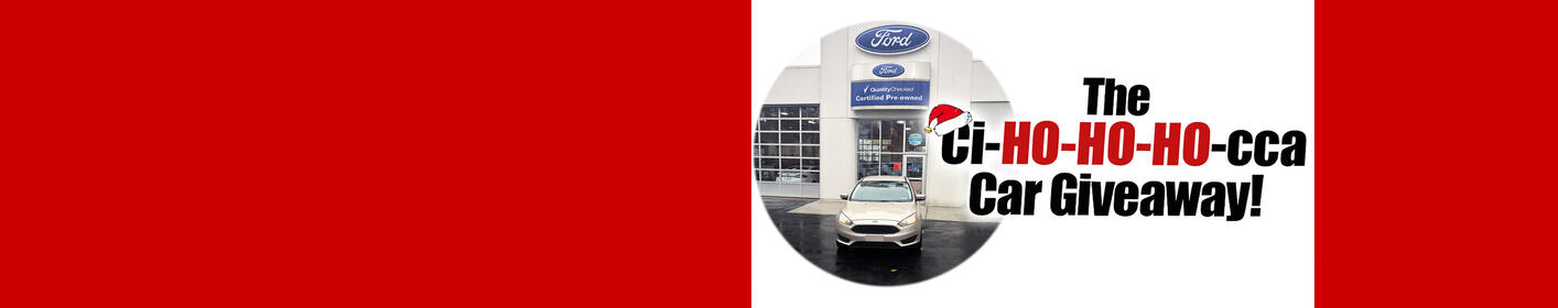 'Ci-Ho-Ho-Ho-cca' Days Giveaway! Drive away a Ford Focus SE from Ciocca Ford!