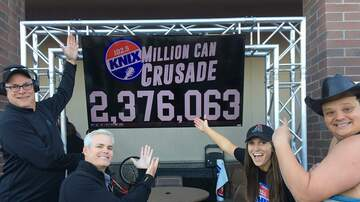 Million Can Crusade - KNIX's Million Can Crusade Breaks Record In 2017!