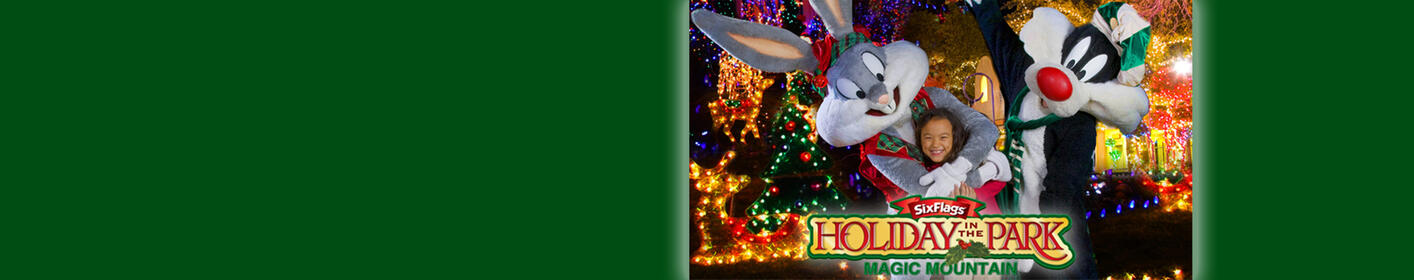 Enter for your chance to win a 4-Pack of tickets to Six Flags Magic Mountain's Holiday in the park!