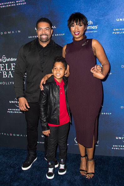 Jennifer Hudson, David Otunga and Son David Jr. - Getty Images