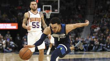 Allen's Page - Howlin' #92Noon: @Timberwolves PG @1Tyus chatting w/PA!