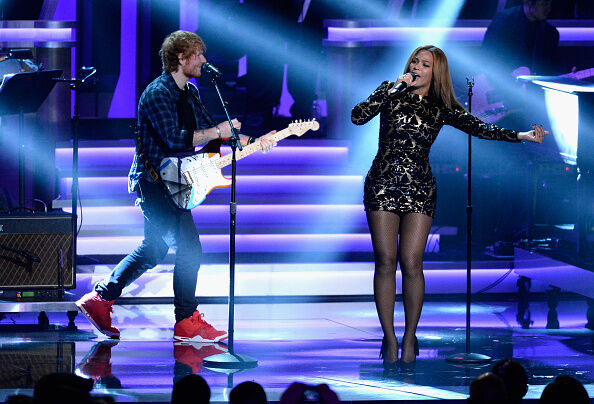 Beyonce and Ed Sheeran - Getty Images