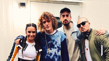 Jingle Ball - Cheat Codes Gets Tattoos Gifted By Demi Lovato Ahead of Jingle Ball