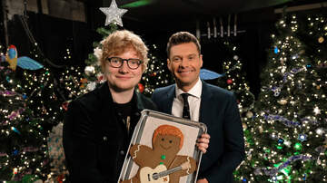 Jingle Ball - Ryan Seacrest Presents Ed Sheeran With a Ginger Gingerbread Man and OMG
