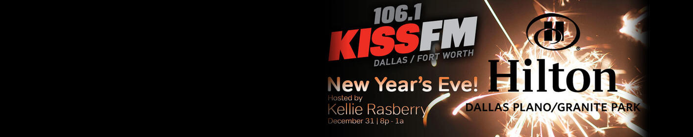 Ring In 2018 In Style At The Official 106.1 KISS FM New Year's Eve Party Hosted By Kellie Rasberry!