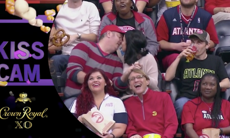 Sports Top Stories - Gross Man Next To Kiss Cam Couple Does Something Disgusting