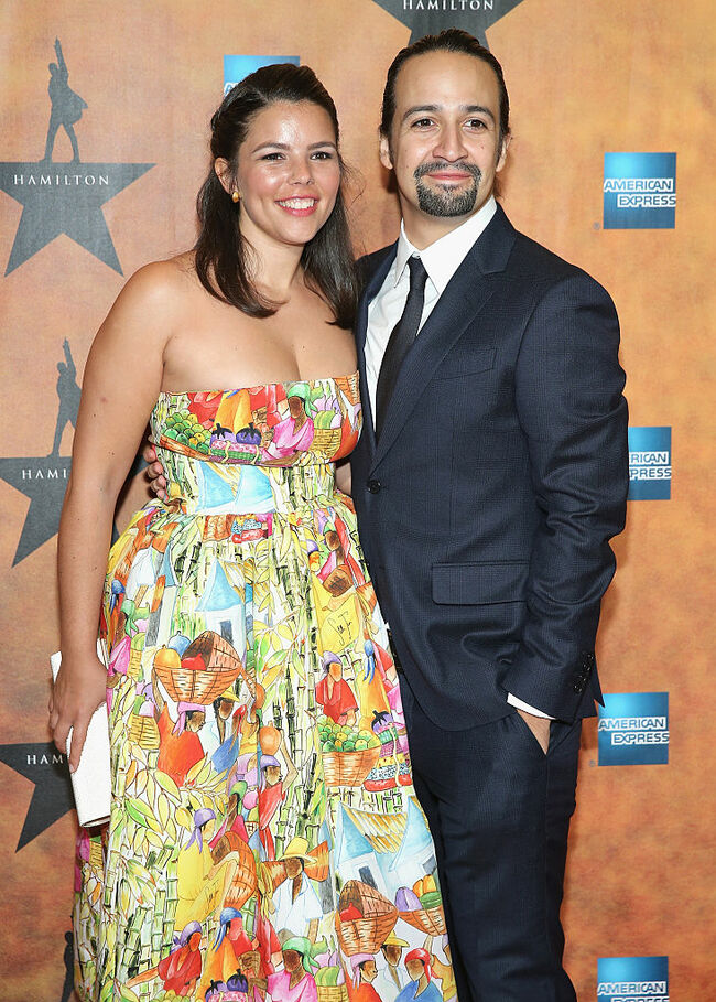 Lin-Manuel Miranda and wife, Vanessa Nadal | Getty Images