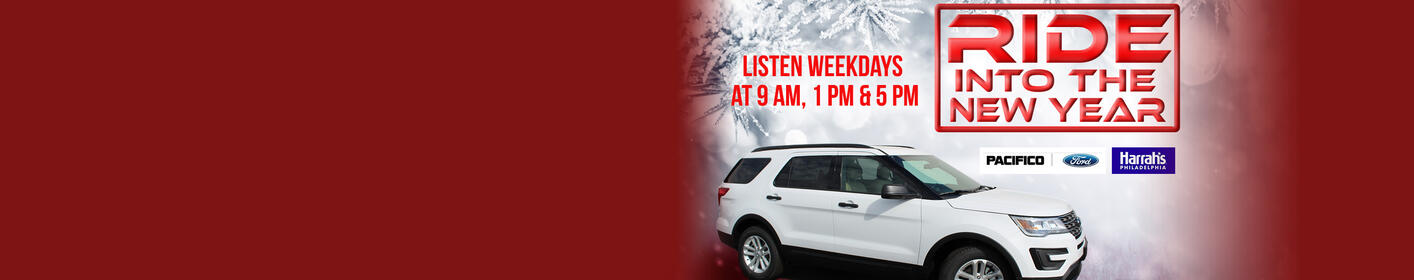Ride into the New Year - Listen for a chance to win a Ford Explorer!