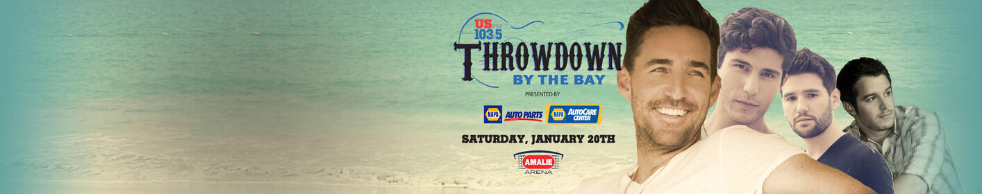 Listen weekdays at 3:10p + 5:10p to win FLOOR tickets to Throwdown By The Bay!