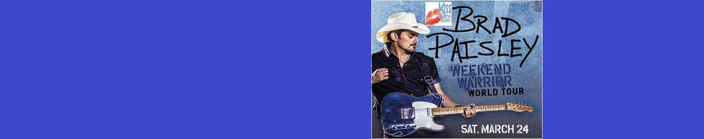 965 Kiss Country Welcomes Brad Paisley and His  2018 Weekend Warrior World Tour