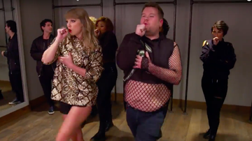 Jingle Ball - Watch James Corden Become Taylor Swift's Worst Backup Dancer At Jingle Ball