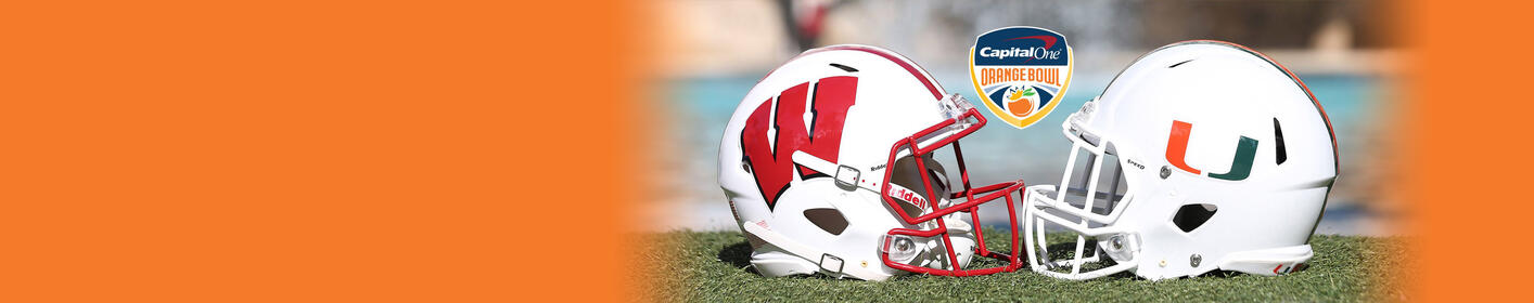 Badgers Football vs Miami in the Capital One Orange Bowl - December 30 at 7pm