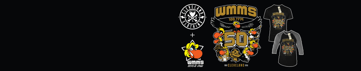 Get the exclusive WMMS 50th Anniversary Retro Shirt from CLE Clothing Co!