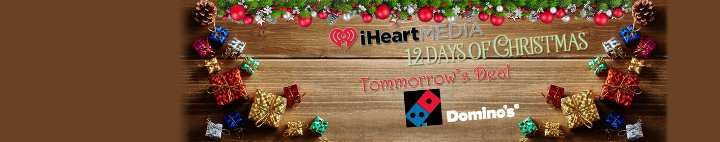 "Monday, We continue with the ""12 Days"" with an Unbelievable deal from Domino's!!!"