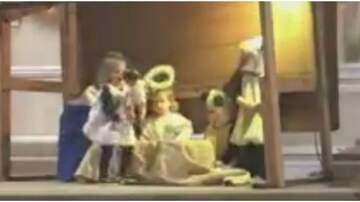 Holidays - Kids Run Off With Baby Jesus During Nativity Play & The Audience Reacts