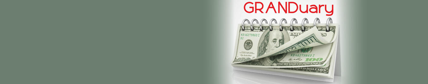 It's GRANDuary - Listen To Win $1,000!