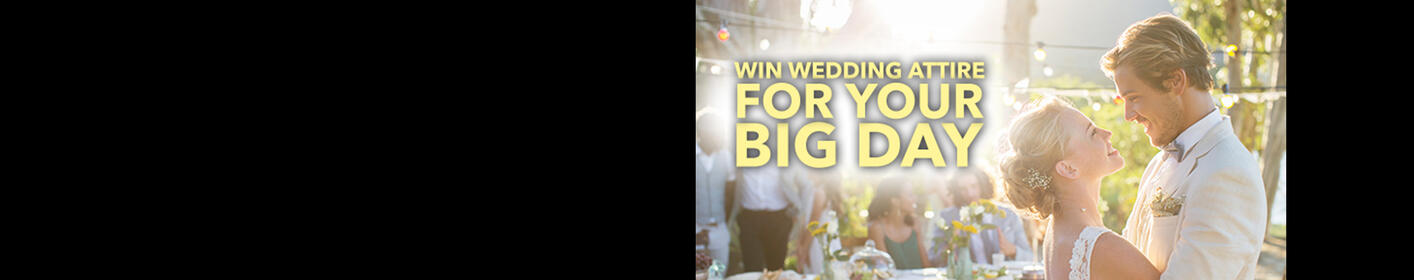 Win Your Wedding Attire! Enter Here!