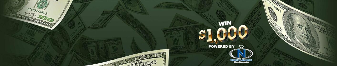 Pay your bills! Listen to win $1000 EVERY HOUR starting at 5am weekdays!