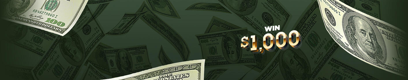 Listen to win $1,000 every hour on the :22s