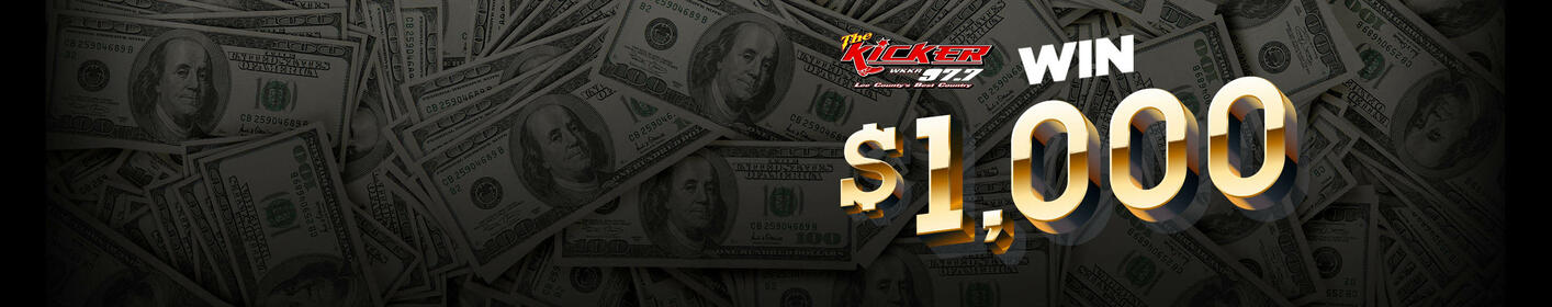 Here's how you can win $1,000 by listening to KickerFM!