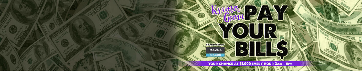 Your Shot at $1,000 EVERY Weekday, EVERY Hour 3am-6pm!