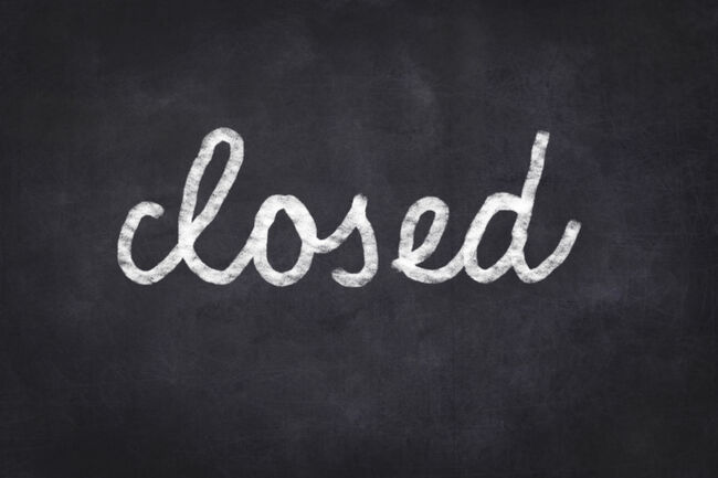 Closed on Blackboard Getty RF
