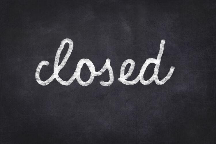 Closed on Blackboard Getty RF