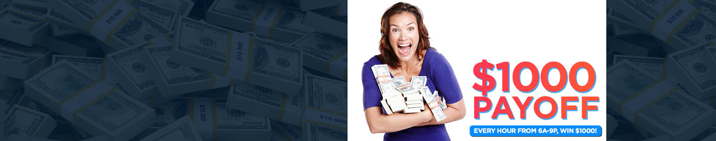 Listen to win your $1000 Payoff!
