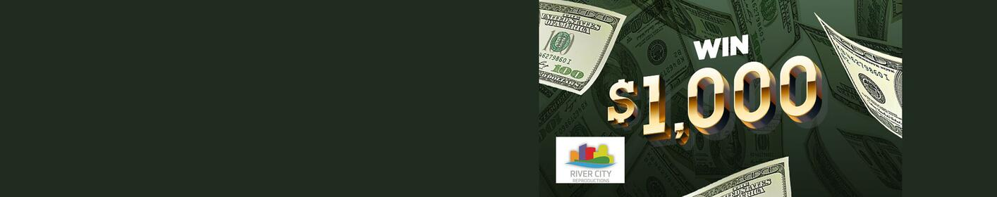 Win $1000 With ESPN 96.1 | Sponsored by River City Reproductions