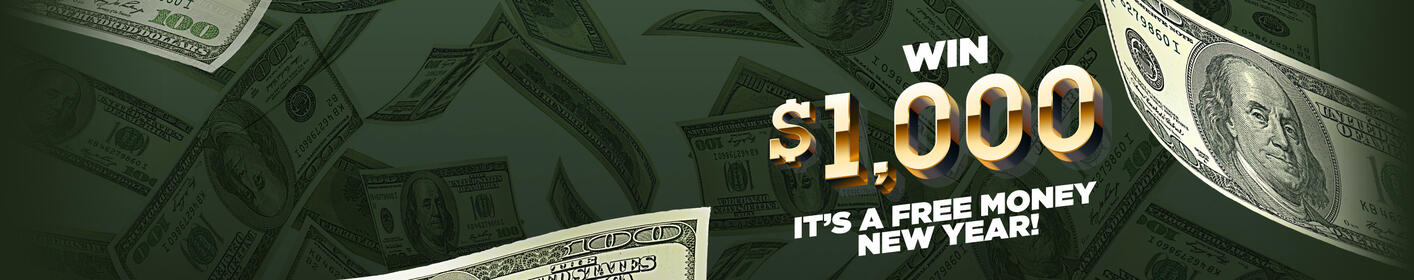 FREE MONEY New Year: Listen to Win $1,000 Every Hour!