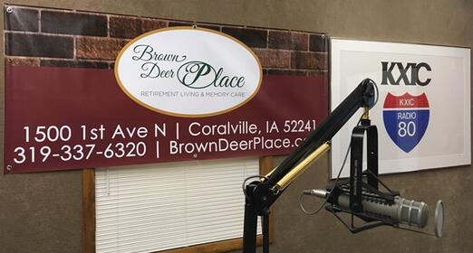 800 KXIC Broadcasting from the Brown Deer Place Studios! Sponsored by Brown Deer Place Retirement Living and Memory Care in Coralville
