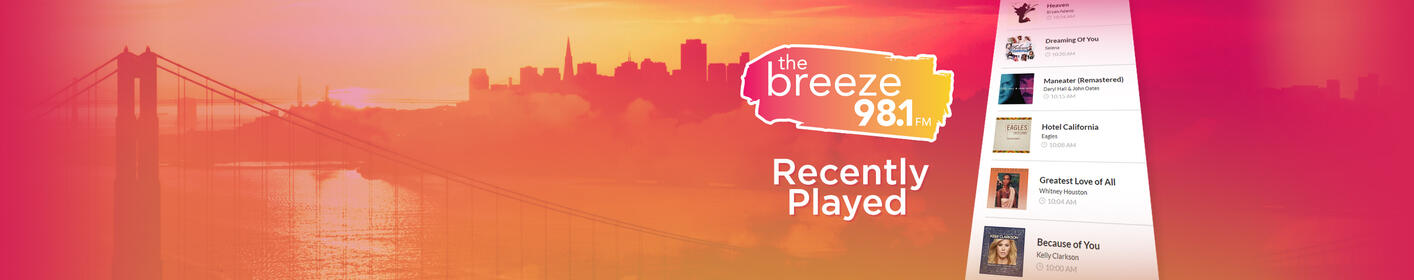 What was that song you just heard on The Breeze? Find it here!