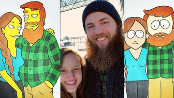 Uplifting - Artistic Boyfriend Draws Himself, Girlfriend As 10 Different Cartoons