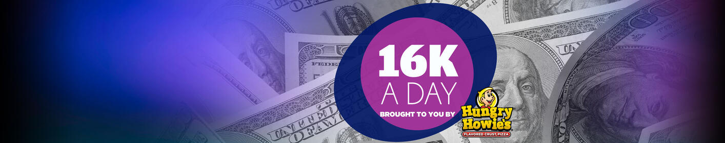 You have 16 chances a day to win $1,000