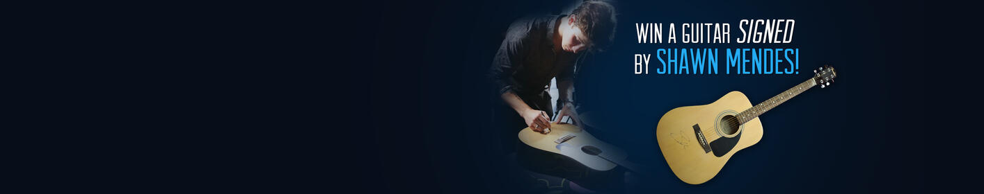 Enter here to win a guitar signed by Shawn Mendes!