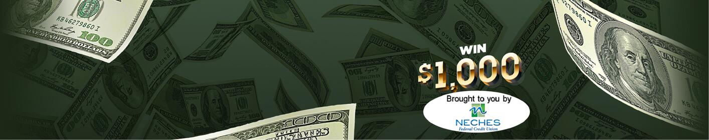 Listen To Win $1,000 Every Hour, Weekdays Between 5AM &  8PM on Big Dog 106!