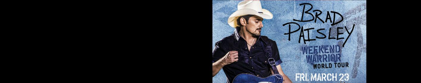Listen up this week for your chance to score Brad Paisley tickets!