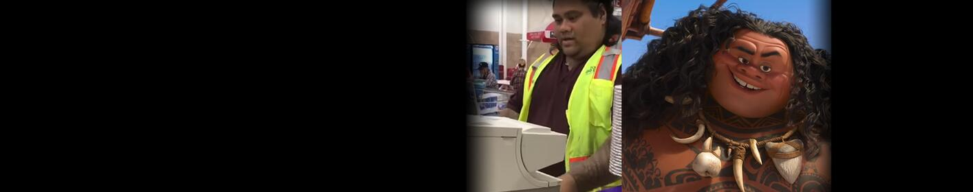 Kids Think Costco Employee Is Maui From 'Moana' And He Plays Along