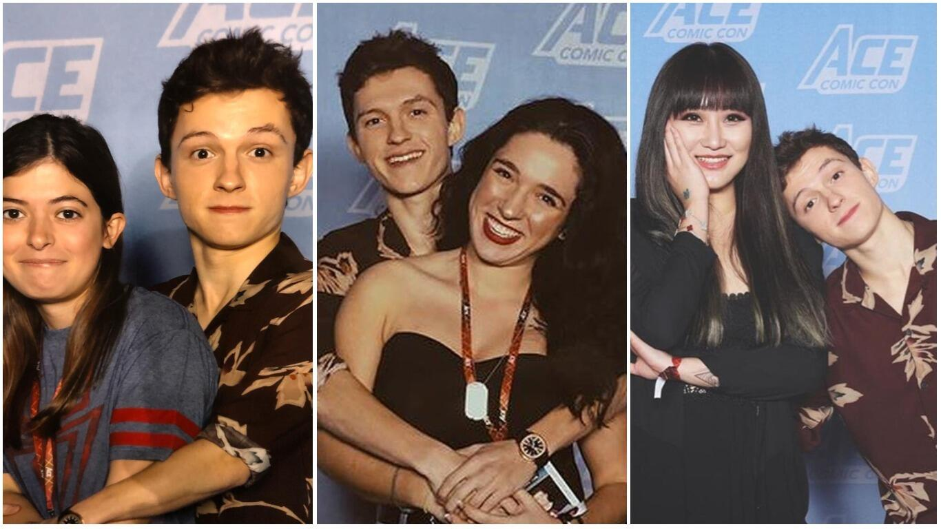 Tom Holland Has The Funniest Mg Photos At Ace Comic Con In Glendale